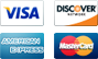 Visa, Discover, AmEx, Mastercard